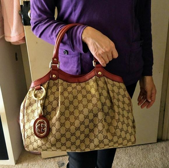 b4681518068f Gucci Bags | Med Sukey Gg Canvas Monogram 211944 | Poshmark